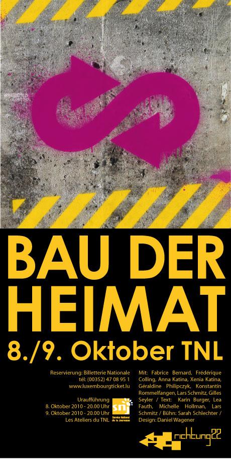 Plakat Bau der Heimat